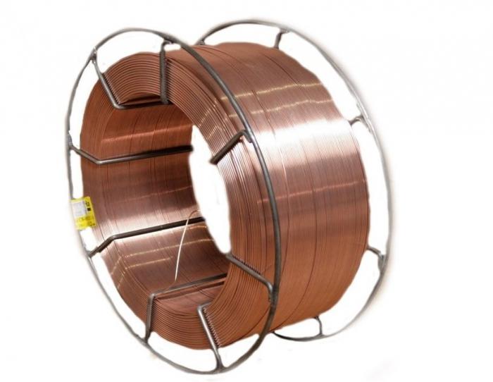 Проволока сварочная омедненная СВ08Г2С ГОСТ 2246-70 на кассете к300 каркас 15 кг