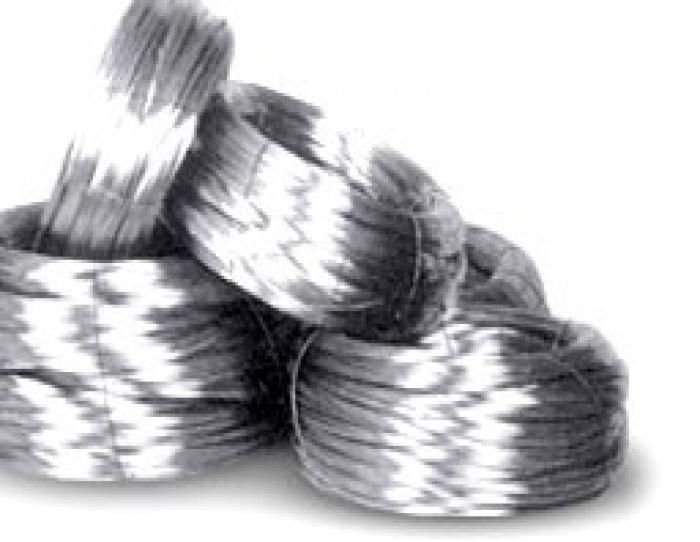 Steel electrode wire.